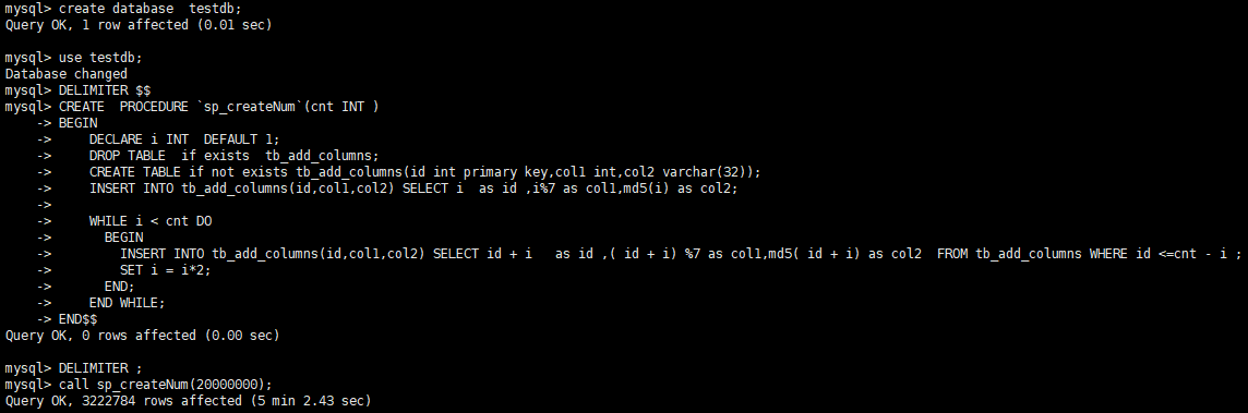 mysql大表在不停機的情況下增加字段該怎麼處理