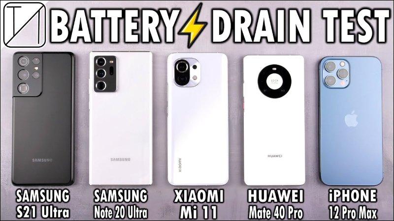 多款旗艦手機電力續航能力實測,三星 Galaxy S21 Ultra 仍敗給 iPhone 12 Pro Max_台中搬家