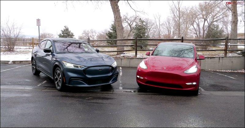 外國 YouTube 頻道評價福特純電野馬 Mustang Mach-E vs. 特斯拉 Model Y ,兩者有哪些差異?_貨運